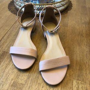 Talbots Block Heel Nude Sandal